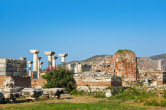 Ruins of st. Johns Basilica at Selcuk Ephesus Turkey Stock Photos