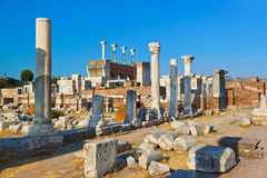 Ruins of st. Johns Basilica at Selcuk Ephesus Turkey Royalty Free Stock Photos