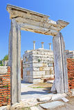 The ruins of the st. Johns Basilica, Selcuk, Ephesus, Turkey royalty free stock photography