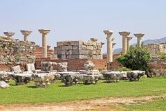 Ruins of st. Johns Basilica, Selcuk, Turkey Royalty Free Stock Images
