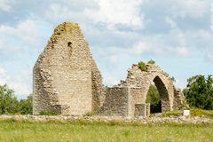 Ruins of St. Knut chapel Stock Images