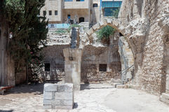 The ruins of the St. Mary Germanica hospital in the Old City  of Jerusalem, Israel. The ruins of the St. Mary Germanica hospital in the Old City of Jerusalem Royalty Free Stock Photography