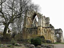 Ruins of St Mary`s Abbey, Museum Gardens, York, England Royalty Free Stock Photography
