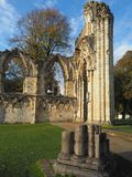 The ruins of St. Mary`s Abbey. Museum Gardens, York, UK Stock Photos