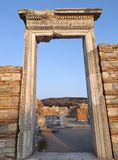 Ruins of St Mary's Church of Ephesus Royalty Free Stock Images