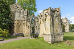 Ruins of St Marys AbbeyYork, UK Stock Photo
