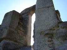 Ruins of St. Nicolas church. Under Krudum hill royalty free stock photos