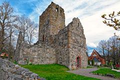 Ruins of St. Olof's Church in Sigtuna Royalty Free Stock Photo