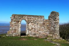 Ruins of St Patrick's Chapel at Heysham Lancashire Stock Image