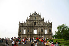 Ruins of St. Paul. The ruins of the Cathedral of St. Paul in Macau, one of most renowned landmarks in Macau Royalty Free Stock Photos