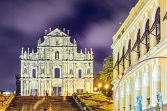Ruins of St. Paul Cathedral Royalty Free Stock Photo