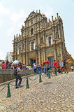 The ruins of st. paul church, macau Royalty Free Stock Photo