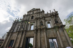 Ruins of St. Paul. The ruins of St. Paul in Macau Royalty Free Stock Photography