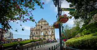Ruins of St Paul Macau Royalty Free Stock Image