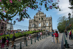 Ruins of St Paul Macau Stock Image