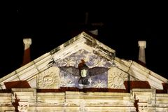 Ruins Of St. Paul At Night, Macau, China, UNESCO World Heritage Site. The Ruins of St. Paul`s are the ruins of a 17th-century complex in Santo António, Macau Royalty Free Stock Photos