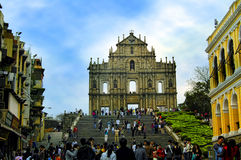 The ruins of st. paul church, macau Stock Photography