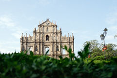 Ruins of St. Paul's Cathedral, Macau. Ruins of St. Paul's - the remains of a 17th Century cathedral and also one of Macau's most famous landmarks royalty free stock photos