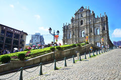 Ruins of St. Paul's Cathedral in Macau - September 5, 2015 Stock Photos