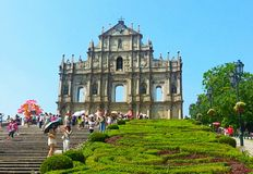 Ruins of St. Paul's. Church in Macau Royalty Free Stock Photography