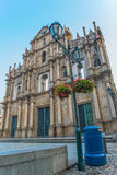 Ruins of St  Paul s - A famous tourist sightseeing in Macau Royalty Free Stock Photo