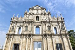 The Ruins of St. Paul`s in Macao Stock Images