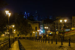 The Ruins of St. Paul's in Macao, Night time. Road beside The Ruins of St. Paul's in Macao, Night time Stock Photography