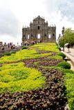 The Ruins of St. Pauls, one of the Macaus most famous landmarks. And officially enlisted as part of the UNESCO World Heritage Site Historic Center of Macau in Stock Photo
