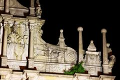 Ruins Of St. Paul At Night, Macau, China, UNESCO World Heritage Site. The Ruins of St. Paul`s are the ruins of a 17th-century complex in Santo António, Macau Stock Photos