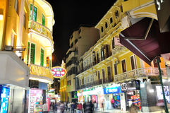 Ruins of St. Paul's street night. In Chinese Macao.The photo was taken as 2015.3.1 Royalty Free Stock Photos