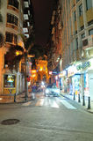 Ruins of St. Paul's street night. In Chinese Macao.The photo was taken as 2015.3.1 Royalty Free Stock Photo