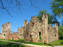 The ruins of the stables baronial. Summer day Stock Photography