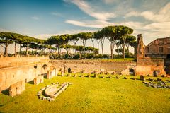 Ruins of Stadium Domitanus, Rome Stock Photography