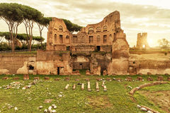 The ruins of the stadium of Domitian in Rome Royalty Free Stock Image