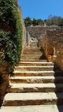 Ruins of stairs in crete Stock Photography