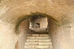 Ruins stairs tunnel Stock Image
