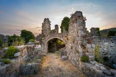 Ruins of Stari Bar fortress Royalty Free Stock Photo