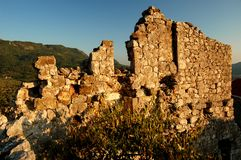 Ruins of Stari Bar, Montenegro Royalty Free Stock Photo