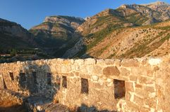 Ruins of Stari Bar, Montenegro Royalty Free Stock Photography