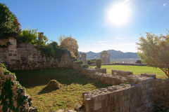 Ruins of Stari Grad Bar in Montenegro Royalty Free Stock Photography