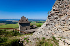 Ruins of Stary Jicin castle. Beautiful old ruins of Stary Jicin castle. Beautiful Czech landscape Stock Photography