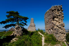 Ruins of Stary Jicin castle. Beautiful old ruins of Stary Jicin castle. Beautiful Czech landscape Royalty Free Stock Images
