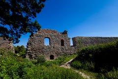 Ruins of Stary Jicin castle. Beautiful old ruins of Stary Jicin castle. Beautiful Czech landscape Stock Image