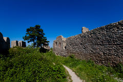 Ruins of Stary Jicin castle. Beautiful old ruins of Stary Jicin castle. Beautiful Czech landscape Royalty Free Stock Photography