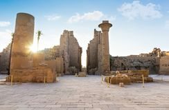 Ruined Karnak temple stock photography