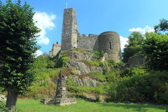 Ruins of Stolpen castle Royalty Free Stock Photos