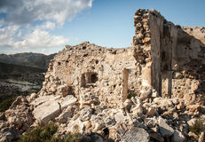 Ruins of a stone house Stock Photo