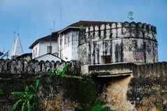 Ruins Stone Town, Zanzibar. Ruins and old building in the ancient town of Stone Town, Zanzibar, Tanzania royalty free stock photos