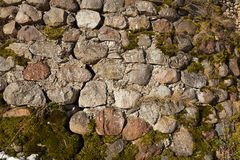 The ruins. Of a stone wall of the old building. Fortress Krevo Belarus Stock Image