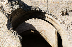 Ruins, stone walls, middle ages Royalty Free Stock Photos